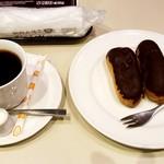 喫茶室ルノアール - 復刻版ルノアールブレンド(エクレア付き):830円