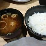 飛騨牛一頭家 馬喰一代 名古屋WEST - ご飯、味噌汁
