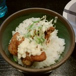 ラーメン 味鶏 - ミニ唐揚げ丼