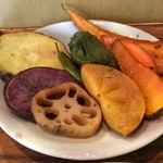 絹延橋うどん研究所 - 焼き野菜