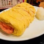 飲食笑商何屋ねこ膳 - だしまきめんたい(450円)