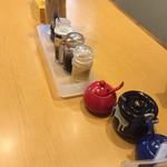 76671989 - テーブルの調味料。