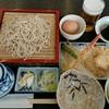 長寿庵 - 料理写真:カニ天ぷらとせいろ蕎麦。