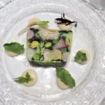 アーティショー - オマール海老と野菜のテリーヌ エシャロットのピュレ