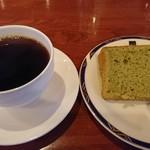マルグッタ51番地 - セットのコーヒーとシフォンケーキ