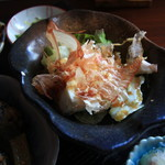 アンズカフェ - 湯葉 寄せ豆腐のサラダ