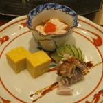 鮨 山浦 - 29年11月 北海道噴火湾 子持ち蝦蛄、真鱈白子、玉子
