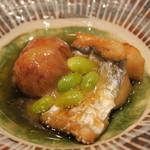 鮨 山浦 - 29年11月 瀬戸内 太刀魚、里芋、銀杏の揚げ出し 柚子味噌餡