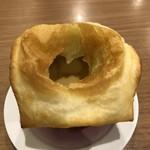ぎゅう丸 - あつあつパイ包みスープ、割ったところ