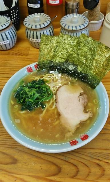 竜家 - ラーメン680円麺硬め。