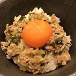 麺家たいら - ☆肉玉飯♪卵が甘く濃厚。濃いラーメンスープとの相性がいいです。