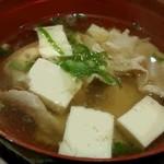 ラーメンココいち - 味付湯豆腐