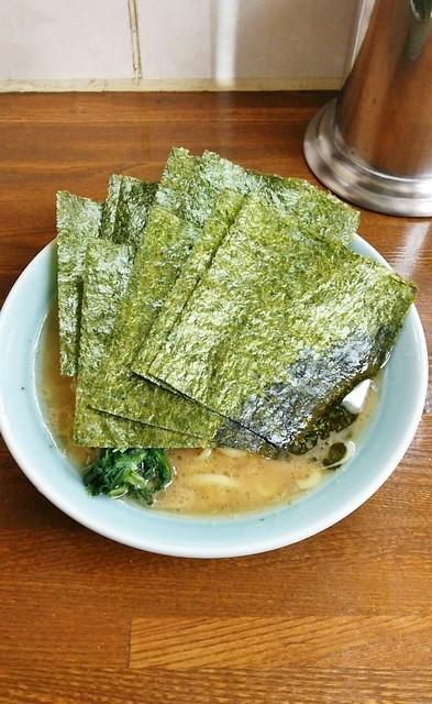 近藤家 本店 - ラーメン700円。麺硬め。海苔増し100円。