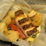 Ristorante Pinocchio - 熊本産真鯛と松茸・ 極上汐昆布ニョッキのカルトッチョ
