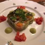 76687084 - ◇前菜/柿やいちじく、茄子など秋を感じる食材をまとめたテリーヌ