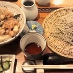 衣掛庵昌 - 料理写真:かき揚げ丼ともりそばのセット