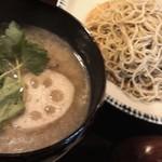 衣掛庵昌 - 地鶏蓮根汁蕎麦(季節もの)