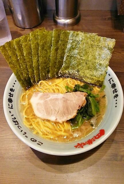 円満家 大塚店 - ラーメン700円麺硬め。海苔増し100円。