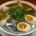 二両半 鶴橋本店 - 料理写真:【しょうゆラーメン 並 + 半熟味付け玉子】¥680 + ¥100