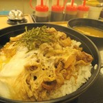 松屋 - 牛とじ丼500円