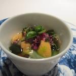 レストラン カズ - 先ずはウニや朝倉のカワタケを使ったアミューズからスタートです。