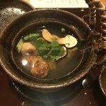 紀のん - 贅沢海鮮の松茸土瓶蒸し。海老、鮑、天然鯛がゴロゴロ入ってます!松茸の食感も抜群!