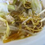 幸華 - 麺の下部がスープに浸ってるんです