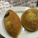 箱根ベーカリー - 焼きカレーパン、きのこカレーパン