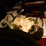76704683 - 新鮮野菜と豆腐のゴマドレ