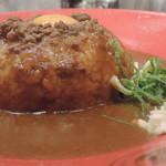 フジヤマドラゴンカレー - フジヤマドラゴンカレー(ご飯300g、辛さ7) 横から
