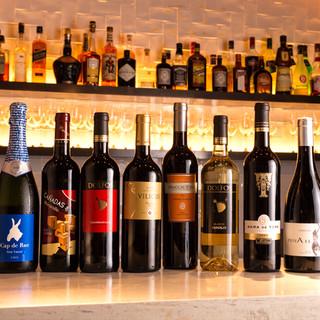 グリル料理と相性ピッタリ!厳選ワインは常時15種類