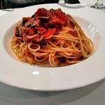 イル・ジャルディーノ - 鰹と茸のトマトソース