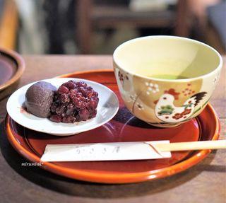 かさぎ屋 - うす茶のセット
