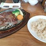 筋肉食堂 - 牛リブロースステーキ+玄米セット