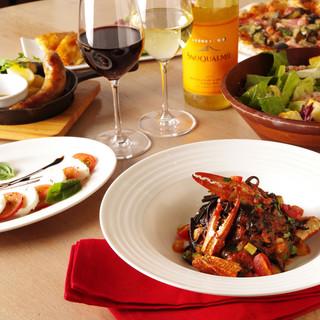 充実した品数の前菜や、大好評のドルチェ♪