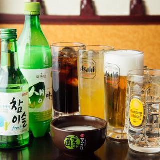 韓国料理と焼肉に合うお酒は豊富なラインナップ!