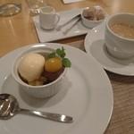 ビストロ レズゥドール  - 和栗のブリュレ +500円、コーヒー