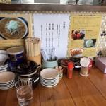 吉田家 - 料理写真:店の雰囲気、カウンター、テーブル周りも、同じです。