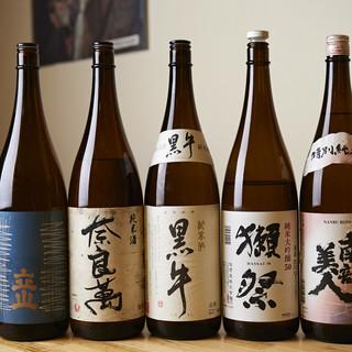 大吟醸酒もお選びいただける飲み放題は、コースまたは単品で♪