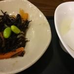 和味庵 - ひじきと杏仁豆腐