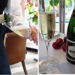 レストラン・モリエール - ◆まずは「シャンパン(1390円)」を。