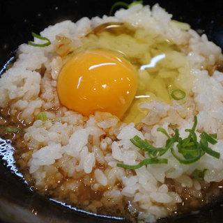 追い飯(卵かけごはん)