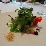 レストラン・モリエール - ◆温野菜のサラダ・・シャッターチャンスは一瞬だけですのお早めに、、と言われ撮りました。