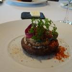レストラン・モリエール - ◆仔羊のリードヴォー 厚みのある椎茸の上に仔羊をのせ、焼かれています。