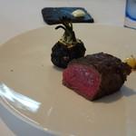 レストラン・モリエール - ◆十勝牛のフィレ。焦がし蕪添え。