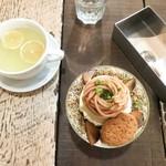 A to Z cafe - 藤井茶園のほうじ茶香るモンブランパフェ