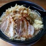 ジャンク屋 哲 - ラーメン、麺大盛り、野菜は普通