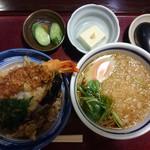 寿々喜 - □ランチ セット(天丼+たぬき) 900円(内税)□