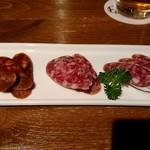 肉バル バーレイウィート - 3種サラミ盛り合わせ
