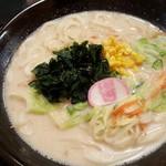 得得うどん - 野菜たっぷりうどん(3玉)¥800+白ご飯¥150